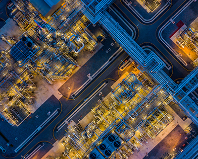 Refinery from above