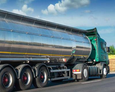 Oil tanker on the road